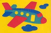 """Самолетик"". Мягкая мозаика"