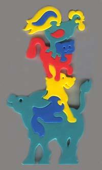 Мягкая мозаика Животные из сказки45336Мозаики и конструкторы серии Флексика развивают у ребенка память, воображение, моторику, пространственное и логическое мышление. Обучение происходит прямо во время игры. Благодаря особой структуре материала и свойству прилипать к мокрой поверхности, являются идеальной игрушкой для ванны. Мозаики и конструкторы серии Флексика выполнены из мягкого, прочного, нетоксичного, абсолютно безопасного материала. Протестированы в лабораториях, имеют сертификаты качества.
