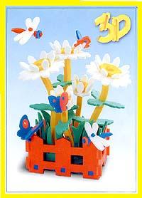Флексика Мягкий конструктор Ромашки45486Игрушки серии Мягкие конструкторы выполнены из мягкого, прочного, нетоксичного, абсолютно безопасного материала. Мягкие конструкторы развивают у ребенка память, воображение, моторику, пространственное и логическое мышление. Обучение происходит во время игры. Благодаря особой структуре материала и свойству прилипать к мокрой поверхности, они являются идеальной игрушкой для ванны. Такие простые малышевые конструкторы не менее полезны чем взрослые. Они дают здоровую и интересную пищу для ума, и при этом безопасны в еще неумелых детских ручках.