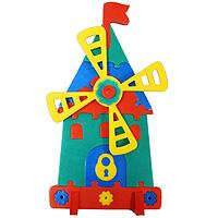 Мягкая мозаика Мельница45355Мозаики и конструкторы серии Флексика развивают у ребенка память, воображение, моторику, пространственное и логическое мышление. Обучение происходит прямо во время игры. Благодаря особой структуре материала и свойству прилипать к мокрой поверхности, являются идеальной игрушкой для ванны. Мозаики и конструкторы серии Флексика выполнены из мягкого, прочного, нетоксичного, абсолютно безопасного материала. Протестированы в лабораториях, имеют сертификаты качества.