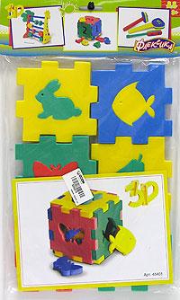 Кубик ассорти45401Мозаики и конструкторы настолько универсальны и практичны, что с ними можно играть практически везде. Для производства игрушек используется современный, легкий, эластичный, прочный материал, который обеспечивает большую долговечность игрушек, и главное является абсолютно безопасным для детей. К тому же, благодаря особой структуре материала и свойству прилипать к мокрой поверхности, мягкие конструкторы и мозаики являются идеальной игрушкой для ванны. Способствует развитию у ребенка мелкой моторики, образного и логического мышления, наблюдательности.