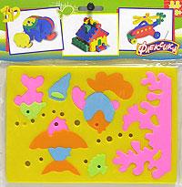 Мягкая мозаика. Рыбки45352Мозаики и конструкторы серии Флексика развивают у ребенка память, воображение, моторику, пространственное и логическое мышление. Обучение происходит прямо во время игры. Благодаря особой структуре материала и свойству прилипать к мокрой поверхности, являются идеальной игрушкой для ванны. Мозаики и конструкторы серии Флексика выполнены из мягкого, прочного, нетоксичного, абсолютно безопасного материала. Протестированы в лабораториях, имеют сертификаты качества.