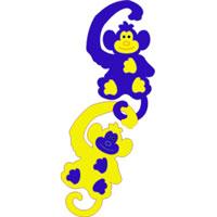 Обезьянки. Мягкая мозаика45377Мозаика Обезьянки, состоящая из двух разноцветных обезьянок, выполнена из современного, легкого, эластичного, прочного материала, который обеспечивает большую долговечность и является абсолютно безопасным для детей. Благодаря особой структуре материала и свойству прилипать к мокрой поверхности, мозаика является идеальной игрушкой для ванны и сделает процесс купания приятной забавой для ребенка. Преимущество предлагаемой мозаики перед другими игрушками заключается в том, что она способствует развитию у ребенка мелкой моторики, образного и логического мышления, наблюдательности.