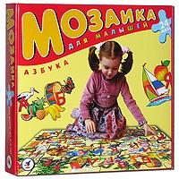 Азбука. Мозаика для малышей, 24 элемента1711С помощью этой мозаики Вашему ребенку будет намного интереснее самостоятельно изучать азбуку. Крупные и яркие детали привлекают внимание даже самых маленьких детей. Картинку удобно собирать сидя на полу: большие фрагменты рассчитаны на малышей и не потеряются. Игра развивает зрительное восприятие, мышление и мелкую моторику рук, учит подбирать подходящие по форме фрагменты рисунка и складывать целое изображение, знакомит с буквами русского языка.