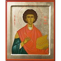 Великомученик и целитель Пантелеймон. 16 х 19 см
