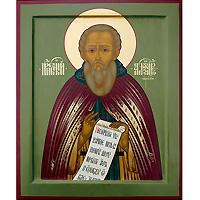 Преподобный Александр Свирский. 16 х 19 см
