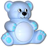 Maman Музыкальный светильник Мишутка цвет голубой20408_голубойМузыкальный светильник Мишутка с лампой на животе порадует своим забавным дизайном каждого малыша и, без сомнения, послужит украшением любой детской спальни. Светильник работает в двух режимах. Режим Автоматический - мягкая музыка и ночник включается автоматически. В дальнейшем активируется звуком. Режим Ночник - ночник включается и выключается при помощи нажатия на плафон.