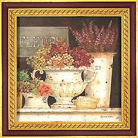 Натюрморт с вазонами (Kathryn White), 18 х 18 см18x18 D1874-31204Художественная репродукция картины Kathryn White Marche aux Fleurs Detail. Размер постера:18 см х 18 см. Артикул: 18x18 D1874-31204.