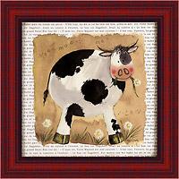Пятнистая коровка (Alex Clark), 18 х 18 см18x18 D2056-10418Художественная репродукция картины Alex Clark Spot the Cow. Размер постера: 18 см х 18 см Артикул: 18x18 D2056-10418.