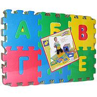 Флексика Коврик-пазл Алфавит, 36 элементов45433Коврик-пазл Флексика Алфавит обязательно понравится каждому ребенку. Он состоит из 36 разноцветных квадратных фрагментов с буквами алфавита, способных соединяться между собой как паззл. Из деталей коврика можно складывать и плоские, и объемные конструкции (кубы, башни и т.д.) Помимо игрового и обучающего эта игрушка имеет и практическое значение. Детали коврика выполнены из экологически чистого мягкого полимерного материала, обладающего теплоизоляционными свойствами. Это обеспечивает комфорт и удобство в использовании в виде напольного покрытия в детской и ванной комнате или даже на пляже. Мозаика настолько универсальна и практична, что с ней можно играть практически везде. Преимущество предлагаемой мозаики перед другими игрушками заключается в том, что она обучает ребенка, способствует развитию у него мелкой моторики, образного и логического мышления, наблюдательности.