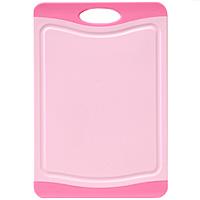 Доска разделочная Atlantis Microban 29х20см, цвет: розовый F-S-PF-S-PКухонная доска от Atlantis прямоугольной формы с контрастными темно-розовыми вставками, выполненная из пластика, обладает целым рядом преимуществ, а именно: удобная ручка; не скользит по поверхности стола; можно использовать обе стороны доски; непористая поверхность; можно мыть в посудомоечной машине; не впитывает запах продуктов; ножи не затупляются при использовании. Доска обработана специальным покрытием Microban. Покрытие Microban - самое надежное в мире средство для защиты от бактерий, грибков, плесени и запахов. Действует постоянно, даже после мытья, обеспечивая большую защиту доски. Антибактериальная защита работает на протяжении всего срока службы разделочной доски. Характеристики: Артикул: F-M-P. Страна: Китай. Размер: 29 см х 20 см х 1 см. Материал: пластик.
