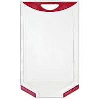 Доска разделочная Atlantis Microban 33х20см, цвет: красный белый V-C-20V-C-20Кухонная доска от Atlantis с красными вставками, выполненная из пластика, обладает целым рядом преимуществ, а именно: удобная ручка; не скользит по поверхности стола; можно использовать обе стороны доски; непористая поверхность; можно мыть в посудомоечной машине; не впитывает запах продуктов; ножи не затупляются при использовании. Доска обработана специальным покрытием Microban. Покрытие Microban - самое надежное в мире средство для защиты от бактерий, грибков, плесени и запахов. Действует постоянно, даже после мытья, обеспечивая большую защиту доски. Антибактериальная защита работает на протяжении всего срока службы разделочной доски.