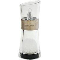 Мельница для солиH581720Мельница для соли изготовлена из нержавеющей стали и пластика. Мельница обладает большой прочностью и высокой плотностью, легко моется и обладает водоотталкивающими свойствами. Она легка в использовании, стоит только покрутить верхнюю часть мельницы, и вы с легкостью сможете добавить соль по своему вкусу в любое блюдо. Благодаря современному дизайну и компактному размеру мельница органично впишется в интерьер любой кухни и не займет много места. Мельница уже содержит внутри соль! Характеристики: Страна: Великобритания. Материал: нержавеющая сталь, пластик. Размер мельницы: 15 см х 6,5 см х 6,5 см. Артикул: Н577720.