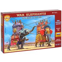 Боевые слоны III - I вв. до н. э. Набор миниатюр8011С помощью набора миниатюр Боевые слоны III - I вв. до н. э вы сможете окунуться в исторические события древних государств Востока. В наборе моделей представлены индийский слон из армий эллинистического Востока и, ныне вымерший, североафриканский лесной слон армий Египта и Карфагена. Экипаж каждого слона составляет: погонщик и воины, вооруженные копьями или лучники. Набор миниатюр развивает интеллектуальные и инструментальные способности, воображение и конструктивное мышление. Идеально подходит для подарка!