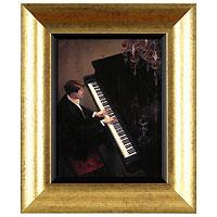 Джазовый дуэт - фортепьяно (Brent Lynch), 17 x 22 см17x22 D3127EX-538017Художественная репродукция картины Brent Lynch Jazz Duet - Piano. Размер постера: 17 см x 22 см. Артикул: 17x22 D3127EX-538017.