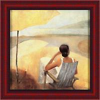 Безмятежный берег (Dominguez), 18 x 18 см18x18 D2792-30704Художественная репродукция картины Dominguez Serene Shore. Размер постера: 18 см x 18 см. Артикул: 18x18 D2792-30704.