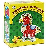 Развивающая игра Любимые игрушки1090Развивающая игра Любимые игрушки прекрасно подойдет для первого знакомства ребенка с мозаикой. Интересная и полезная - она формирует навык соединения деталей, тренирует наблюдательность, развивает мелкую моторику рук и наглядно-образное мышление. С помощью данной игры ваш малыш сможет собрать изображения восьми разных игрушек.