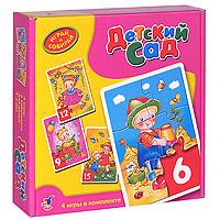 Комплект из 4 мозаик Детский сад1023В комплекте мозаик Детский сад вы найдете 4 мозаики, состоящие из 6, 9, 12 и 15 элементов. Игры-мозаики учат детей собирать простые картинки, подбирать детали по форме и изображению, способствуют развитию внимания, наблюдательности, наглядно-образного мышления, усидчивости и мелкой моторики рук.