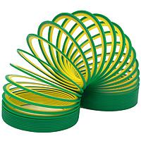 Пружинка Slinky neon, цвет: зелено-желтыйСЛ122 зелено-желтыйПружинка Slinky появилась после Второй Мировой Войны. Эта пружинка - одна из самых любимых и известных игр в мире. Из пружинок делали гирлянды, играли с ними, запутывали, распутывали, пытались заставить ходить по ступенькам лестницы. Пружинка Slinky была в каждом доме. Порадуйте и вы себя этой увлекательной игрой с неоновой пружинкой Slinky neon.