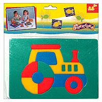 Трактор. Мягкая мозаика45542Мозаика Трактор состоит из разноцветных элементов, которые в собранном виде составляют изображения забавного трактора. Мозаика выполнена из современного, легкого, эластичного, прочного материала, который обеспечивает большую долговечность и является абсолютно безопасным для детей. Благодаря особой структуре материала и свойству прилипать к мокрой поверхности, мозаика является идеальной игрушкой для ванны и сделает процесс купания приятной забавой для ребенка. Преимущество предлагаемой мозаики перед другими игрушками заключается в том, что она способствует развитию у ребенка мелкой моторики, образного и логического мышления, наблюдательности. УВАЖАЕМЫЕ КЛИЕНТЫ! Обращаем ваше внимание на возможные изменения в дизайне, связанные с ассортиментом продукции: цвет изделия или отдельных деталей может отличаться от представленного на изображении. Поставка осуществляется в зависимости от наличия на складе.