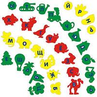 Алфавит-ассорти. Мозаика мягкая45346Мягкая мозаика Алфавит-ассорти состоит из разноцветных букв, которые вставляются в цветные фигурки-элементы, название которых начинается на соответствующую букву. Все элементы выполнены из современного, легкого, эластичного материала, который обеспечивает большую долговечность и является абсолютно безопасным для детей. Благодаря особой структуре материала и свойству прилипать к мокрой поверхности, мозаика является идеальной игрушкой для ванны и сделает процесс купания приятной забавой для ребенка. Преимущество предлагаемой мозаики перед другими игрушками заключается в том, что она способствует развитию у ребенка мелкой моторики, образного и логического мышления, наблюдательности.