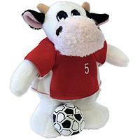 """Бык """"Футболист в красной форме"""". Мягкая игрушка, 14 см"""