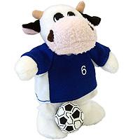 """Бык """"Футболист в синей форме"""". Мягкая игрушка, 14 см"""