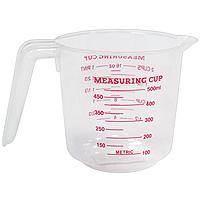 Мерный стакан Atlantis 0,5л , цвет: в ассортиментеC832Мерный прозрачный стакан пригодится на каждой кухне, ведь зачастую приготовление некоторых блюд требует известной точности. Данный стакан позволяет мерить жидкости до 500 мл, есть шкалы измерения в мл, пинтах и в чашках (Cup-шкала).