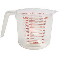 Мерный стакан Atlantis 1л , цвет: в ассортиментеC833Мерный прозрачный стакан пригодится на каждой кухне, ведь зачастую приготовление некоторых блюд требует известной точности. Данный стакан позволяет мерить жидкости до 1 л, есть шкалы измерения в мл, пинтах и в чашках (Cup-шкала).