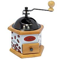 Мельница для кофе Grinberg Stahlwaren, шестигранная. CF602BCF602BУдобный и разнообразный дизайн позволяет выбрать тот вариант, который идеально подойдет именно интерьеру вашей кухни. Идеально сбалансированная конструкция и дизайн были соединены в классическом стиле, отлично сочетающемся с оформлением любой кухни. Такая мельница дополнит интерьер Вашей кухни и будет отличным подарком для настоящего ценителя кофе. Уважаемые клиенты! Так как мельница выполнена из дерева, то ящичек для кофе не всегда плотно закрывается вследствие естественных природных деформаций материала. Прилагается инструкция на русском языке по использованию мельницы.