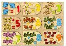 Деревянная обучающая игра-пазл Посчитай-ка89203Деревянная обучающая игра-пазл Посчитай-ка поможет вашему ребенку выучить счет до девяти и научится решать простые примеры. Игра состоит из деревянной основы и игровых элементов, скрепляющихся между собой по принципу пазла. Соединив два элемента с изображением одинаковых зверей, ребенок получит пример. Для того, чтобы решить этот пример малыш должен посчитать количество животных и найти элемент с получившимся ответом. Увлекательная обучающая игра для детей дошкольного возраста направлена на формирование интеллекта, развитие мелкой моторики рук, логики, воображения. Пазл - великолепная игра для семейного досуга. Сегодня собирание пазлов стало особенно популярным, главным образом, благодаря своей многообразной тематике, способной удовлетворить самый взыскательный вкус. А для детей это не только интересно, но и полезно. Собирание пазла развивает мелкую моторику у ребенка, тренирует наблюдательность, логическое мышление, знакомит с окружающим миром, с цветом и разнообразными...