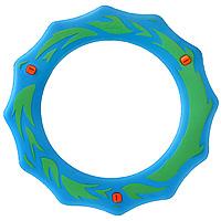 Simba Летающее кольцо голубой зеленый7201411Летающее кольцо сделает отдых на природе веселым и увлекательным. Оформленное стильными языками пламени, кольцо предназначено для полетов в воздухе. На поверхности кольца есть три желобка, которые при полете издают свист и делают игру еще забавнее.