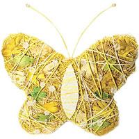 Пасхальное декоративное украшение Бабочка. 1623316233Пасхальное украшение выполнено в виде декоративной композиции - бабочки. Бабочка выполнена из стружек, бумажных нитей и украшена бусинами. Декоративное украшение Бабочка отлично дополнит интерьер вашей комнаты и будет хорошим подарком на пасху. Характеристики: Материал: стружка, бумага. Высота бабочки: 21 см. Производитель: Китай. Артикул: 16233.