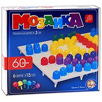 Мозаика, 60 фишек6091Мозаика - увлекательная развивающая игра для ваших детей. Она разовьет у ребенка творческие способности, воображение, координацию движений, мелкую моторику рук и ориентировку на плоскости. В комплект входит 60 круглых фишек шести цветов и игровое поле. Рисунки, представленные на упаковке, являются только примером, так как эта универсальная мозаика раскрывает перед ребенком неограниченные возможности моделирования и создания множества своих собственных рисунков.