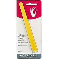 Пилочка Mavala для маникюра, 8 шт06-189Пилка предназначена для придания формы натуральным ногтям. Она прекрасно подходит для обработки даже самых хрупких и тонких ногтей. Этой пилочкой легко сгладить грубую кожу вокруг ногтя. Способ применения: используйте желтую сторону для придания ногтям желаемой длины. Чтобы сохранить природную силу ногтей, избегайте попадания пилки слишком глубоко по углам ногтей. При помощи более гладкой, голубой стороны пилки Вы сможете хорошо опилить края ногтей. Желтая сторона пилки имеет более крупную абразивность и хорошо подходит для педикюра. Набор состоит из 8 пилочек. Характеристики: Количество пилочек: 8. Длина пилочки: 14,5 см. Производитель: Швейцария. Артикул: 906.12 Товар сертифицирован.
