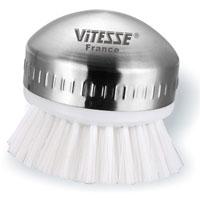 Щетка Vitesse Giza для мытья посудыVS-1819Щетка Giza для мытья посуды, основа которой выполнена из нержавеющей стали 18/10 с матовой полировкой, незаменима при удалении загрязнений с посуды. Щетка пригодна для мытья в посудомоечной машине.