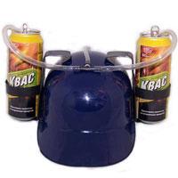 Каска с подставками под банки, цвет: синий89628Синяя пластиковая каска с двумя держателями для банок или небольших бутылок и трубкой, через которую можно пить, поможет Вам утолить жажду во время движения, не останавливаясь и не занимая рук. Трубка имеет зажим, благодаря которому можно регулировать напор жидкости, и две соединительные трубочки, с помощью которых можно смешивать два различных напитка в виде коктейля. Каска имеет амортизатор, регулирующий глубину посадки каски. Характеристики: Высота каски: 12 см. Цвет: синий. Диаметр подставки: 7 см. Длина трубки (за пределами каски): 45 см. Материал: пластик. Артикул: 89628. Уважаемые клиенты! Представленные на изображении банки в комплект не входят.