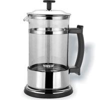 Кофеварка Vitesse Aan, 600 млVS-1677Кофеварка Aan с фильтром френч-пресс займет достойное место на Вашей кухне. Корпус кофеварки выполнен из термостойкого стекла Pyrex, фильтр - из нержавеющей стали, а ручки - из прочного пластика. В комплект с кофеваркой входят мерная ложка. Кофеварка пригодна для мытья в посудомоечной машине. Настоящим ценителям натурального кофе широко известны основные и наиболее часто применяемые способы его приготовления: эспрессо, по-турецки, гейзерный. Однако существует принципиально иной способ, известный как french press, благодаря которому приготовление ароматного напитка стало гораздо проще. Метод french press прост: в теплый кофейник насыпают кофе грубого помола и заливают горячей водой. После того, как напиток настоится 3-5 минут, гущу отделяют поршнем с сеткой - и кофе готов! Эксперты считают, что такой способ позволяет получить максимально ароматный и нежный кофе - ведь он не перегревается, не подвергается воздействию высокого давления и не проходит через...