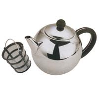 Чайник заварочный Vitesse Carola, 1 лVS-1236Заварочный чайник Carola, выполненный из высококачественной нержавеющей стали 18/10 с зеркальной полировкой, предоставит вам все необходимые возможности для успешного заваривания чая. Чай в таком чайнике дольше остается горячим, а полезные и ароматические вещества полностью сохраняются в напитке. Чайник имеет вынимающийся фильтр-ситечко с ручкой, что делает его чрезвычайно удобным в использовании. Эстетичный и функциональный, с эксклюзивным дизайном, чайник будет оригинально смотреться в любом интерьере. Чайник пригоден для мытья в посудомоечной машине. Высота чайника (без учета крышки): 11,5 см. Диаметр основания чайника: 6,5 см.