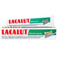 Lacalut Зубная паста Fitoformula, 75 мл159800252Специально разработанная зубная паста Lacalut Fitoformula с экстрактами лекарственных растений, фторидом и бикарбонатом натрия предупреждает развитие кариеса, нейтрализует кислоту, образующуюся после приема пищи, обладает антибактериальными свойствами. Наличие экстрактов ратании, зеленого чая, мирры, зверобоя, шалфея позволяет уменьшить кровоточивость и воспаление десен.