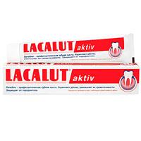 Lacalut Зубная паста Aktiv, 75 мл1598003511Кровоточивость - первый признак воспаления десен. Lacalut Aktiv содержит оригинальную комбинацию лактата алюминия и фтористого алюминия, которые укрепляют и тонизируют десны, уменьшают их кровоточивость. Lacalut Aktiv защищает десны от воспаления, предупреждает развитие пародонтоза и кариеса. Зубную пасту рекомендуется использовать в течение 30-60 дней с интервалами между курсами 20-30 дней.