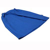Килт для бани и сауны Eva, мужской, цвет: синийБ88Килт для бани и сауны Eva выполнен из натурального хлопка. Он хорошо поглощает влагу и дарит необыкновенную мягкость и комфорт. Мужской килт не теряет цвет и мягкость благодаря качественной вафельной ткани. Банный килт - это многофункциональная накидка специального покроя с резинкой и застежкой-липучкой. В парилке можно лежать на нем, после душа вытираться. Такой килт идеально подойдет для любителя бани или сауны. Длина килта: 60 см. Ширина килта: 145 см. Размер: 36-60.