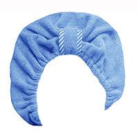 Чалма для сушки волос Главбаня, цвет: голубойБ90Чалма Главбаня выполнена из полиэстера и полиамида. Обеспечивает щадящую и комфортную сушку волос после мытья, держится и выглядит лучше обычного полотенца. Чалма также может использоваться при нанесении макияжа и косметических процедурах, для защиты волос в сауне. Прекрасно впитывает влагу и подходит для волос любой длины. Чалма Главбаня пригодится вам не только дома, но и в поездке, на даче, после занятий спортом. Максимальный обхват головы: 68 см.