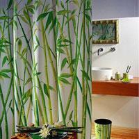 Штора Bambus green, 180 х 200 см1042057Штора для ванной комнаты Bambus green изготовлена из текстиля с гидрофобной пропиткой. В верхней кромке шторы сделаны отверстия для колец, нижняя кромка снабжена специальным отягощающим шнуром, который придает шторе естественную ниспадающую форму. Штору можно стирать в стиральной машине при температуре не выше 40 градусов, можно гладить, как синтетический материал. Шторы от компании Spirella отличает яркий, красочный дизайн рисунков и высокое качество (гарантия на изделие 3 года). Сделайте вашу ванную комнату еще красивее! Характеристики: Материал: текстиль, полиэстер. Размер шторы: 180 см х 200 см. Артикул: 1042057. Производитель: Швейцария.