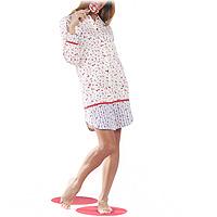 "Ночная рубашка ""Flowers Dance"". Размер: 48, цвет: Hibiscus (кремовый с красным). 6212"