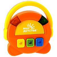 Музыкальная игрушка Поющее радио31031Музыкальная игрушка Поющее радио изготовлена из прочных и безопасных материалов. При нажатии кнопок звучат веселые мелодии и мигают разноцветные огоньки. Игрушка развивает у малыша слух, моторику, чувство ритма, воображение, цветовое восприятие, интерес к музыке.