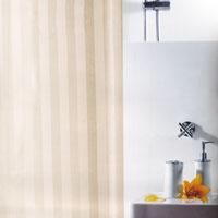 Штора для ванной комнаты Magi Jasmin, цвет: бежевый, 240 х 180 см1011155Штора для ванной комнаты Magi Jasmin изготовлена из текстиля с гидрофобной пропиткой. В верхней кромке шторы сделаны отверстия для колец, которые обработаны пластиком, нижняя кромка снабжена специальным отягощающим шнуром, который придает шторе естественную ниспадающую форму. Штору можно стирать в стиральной машине при температуре не выше 40 градусов, можно гладить, как синтетический материал. Шторы от компании Spirella отличает яркий, красочный дизайн рисунков и высокое качество (гарантия на изделие 3 года). Сделайте Вашу ванную комнату еще красивее! Характеристики: Материал: 100% полиэстер. Размер шторы (ШхВ): 240 см х 180 см. Производитель: Швейцария. Артикул: 1011155.