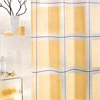 Штора Scott champagne, 180х2001000390Штора для ванной комнаты Scott champagne с декоративным рисунком изготовлена из полиэтиленвинилацетата. В верхней кромке шторы сделаны отверстия для колец. Штору можно стирать только руками. Шторы от компании Spirella отличает яркий, красочный дизайн рисунков и высокое качество (гарантия на изделие 3 года). Сделайте Вашу ванную комнату еще красивее! Характеристики: Материал: пластик. Размер шторы: 180 см х 200 см. Цвет рисунка: бежевый. Производитель: Швейцария. Артикул: 1000390.