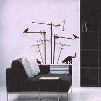 Стикер Paristic Лес антенн, 70 х 70 см44062Добавьте оригинальность вашему интерьеру с помощью необычного стикера Лес антенн. Изображение на стикере имитирует силуэт кота, который охотится на птиц, сидящих на антеннах. Необыкновенный всплеск эмоций в дизайнерском решении создаст утонченную и изысканную атмосферу не только спальни, гостиной или детской комнаты, но и даже офиса. Стикер выполнен из матового винила - тонкого эластичного материала, который хорошо прилегает к любым гладким и чистым поверхностям, легко моется и держится до семи лет, не оставляя следов. В комплекте прилагается ракель, с помощью которого вы без труда наклеите стикер на выбранную поверхность. Сегодня виниловые наклейки пользуются большой популярностью среди декораторов по всему миру, а на российском рынке товаров для декорирования интерьеров - являются новинкой. Paristic - это стикеры высокого качества. Художественно выполненные стикеры, создающие эффект обмана зрения, дают необычную возможность использовать в...