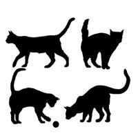 Стикер Paristic Коты, 33 х 40 см44455Добавьте оригинальность вашему интерьеру с помощью необычного стикера Коты. Изображения на стикере выполнены в виде различных силуэтов котов (на одном листе 4 изображения). Изображения можно разделить и разместить в любых местах в выбранном вами помещении, создав тем самым необычную композицию. Необыкновенный всплеск эмоций в дизайнерском решении создаст утонченную и изысканную атмосферу не только спальни, гостиной или детской комнаты, но и даже офиса. Стикер выполнен из матового винила - тонкого эластичного материала, который хорошо прилегает к любым гладким и чистым поверхностям, легко моется и держится до семи лет, не оставляя следов. Сегодня виниловые наклейки пользуются большой популярностью среди декораторов по всему миру, а на российском рынке товаров для декорирования интерьеров - являются новинкой. Paristic - это стикеры высокого качества. Художественно выполненные стикеры, создающие эффект обмана зрения, дают необычную возможность...